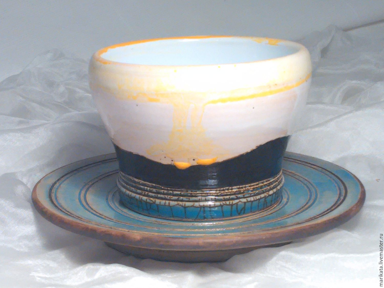 'Sunrise over the hills', ceramics, coffee Cup, Tea & Coffee Sets, Novosibirsk,  Фото №1