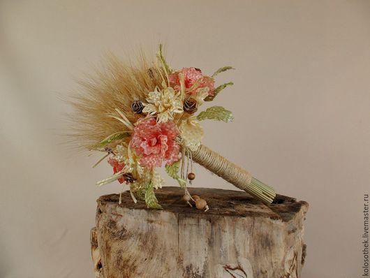 Свадебные цветы ручной работы. Ярмарка Мастеров - ручная работа. Купить Букет невесты. Букет цветов.Букет из колосьев. Цветы из соломки.. Handmade.