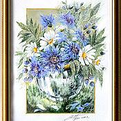 Картины и панно ручной работы. Ярмарка Мастеров - ручная работа Букетик полевых цветов. Handmade.