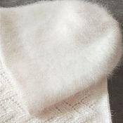Caps handmade. Livemaster - original item Hat female. Snood women`s. Set hat and Snood Angora. Handmade.