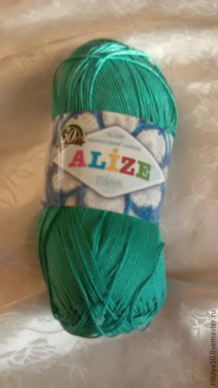 Ализе Мисс.. мерсеризованный хлопок. нить приятна как в процессе вязания так и в носке.