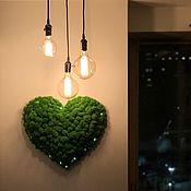 Слова ручной работы. Ярмарка Мастеров - ручная работа Сердце из стабилизированного мха с подсветкой. Handmade.