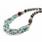Украшения handmade. Livemaster - original item Necklace with larimar