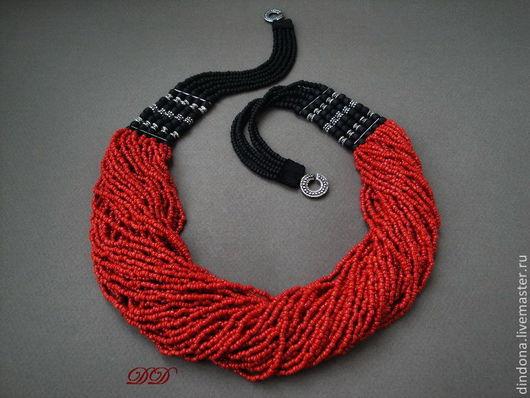 """Колье, бусы ручной работы. Ярмарка Мастеров - ручная работа. Купить """"Коралловый лес"""". Handmade. Красный, коралл, этнические бусы"""