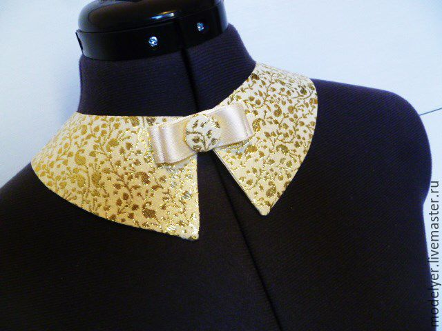 Vorotnichek Cold Universal / brocade, gold, Collars, Moscow,  Фото №1