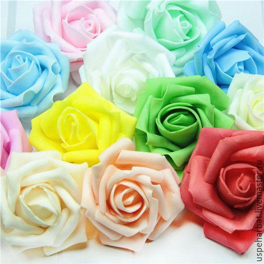 Материалы для флористики ручной работы. Ярмарка Мастеров - ручная работа. Купить Розы из фоамирана 7  см. Handmade. Комбинированный