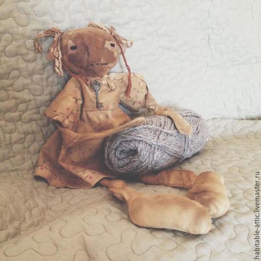 Ароматизированные куклы ручной работы. Ярмарка Мастеров - ручная работа. Купить Примитивная ключница. Handmade. Коричневый, примитивная кукла, примитивы