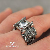 Украшения handmade. Livemaster - original item The magic crystal. Men`s ring. Silver.. Handmade.