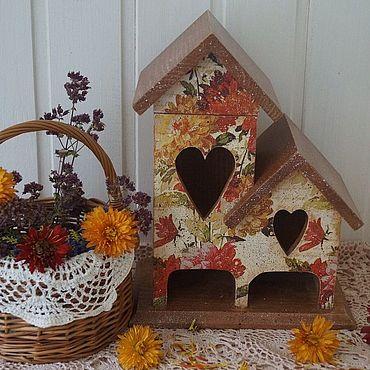 """Для дома и интерьера ручной работы. Ярмарка Мастеров - ручная работа """"Осенние мотивы""""-чайный домик. Handmade."""
