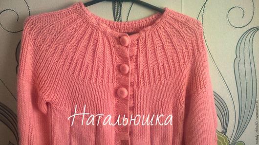 """Кофты и свитера ручной работы. Ярмарка Мастеров - ручная работа. Купить Кардиган """"Розовое суфле"""". Handmade. Розовый, кардиган спицами"""