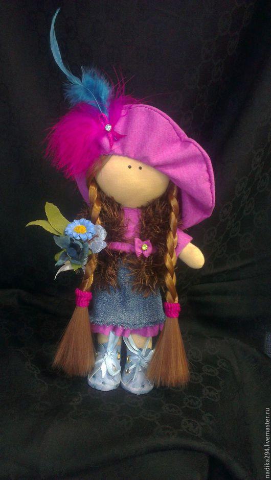 Куклы тыквоголовки ручной работы. Ярмарка Мастеров - ручная работа. Купить Куколка. Handmade. Фуксия, кукла ручной работы, джинс