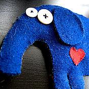 Куклы и игрушки ручной работы. Ярмарка Мастеров - ручная работа Влюбленный слоненок. Handmade.