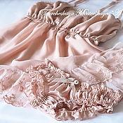 """Одежда ручной работы. Ярмарка Мастеров - ручная работа """"Beige"""". Комплект женского белья ручной работы. Handmade."""