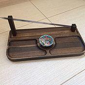 Утварь ручной работы. Ярмарка Мастеров - ручная работа Блюдо из дерева для шашлыка. Handmade.