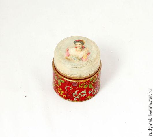 Персональные подарки ручной работы. Ярмарка Мастеров - ручная работа. Купить Баночка для крема ТАЙНЫЕ МЕЧТЫ. Handmade. Ярко-красный