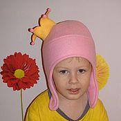 Работы для детей, ручной работы. Ярмарка Мастеров - ручная работа Шапка зимняя флисовая для девочки Принцесса. Handmade.