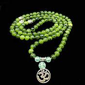 Фен-шуй и эзотерика handmade. Livemaster - original item Rosary of natural Jade Ural 108 b.. Handmade.