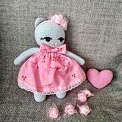 Мягкие игрушки ручной работы. Ярмарка Мастеров - ручная работа Киса в платье. Handmade.
