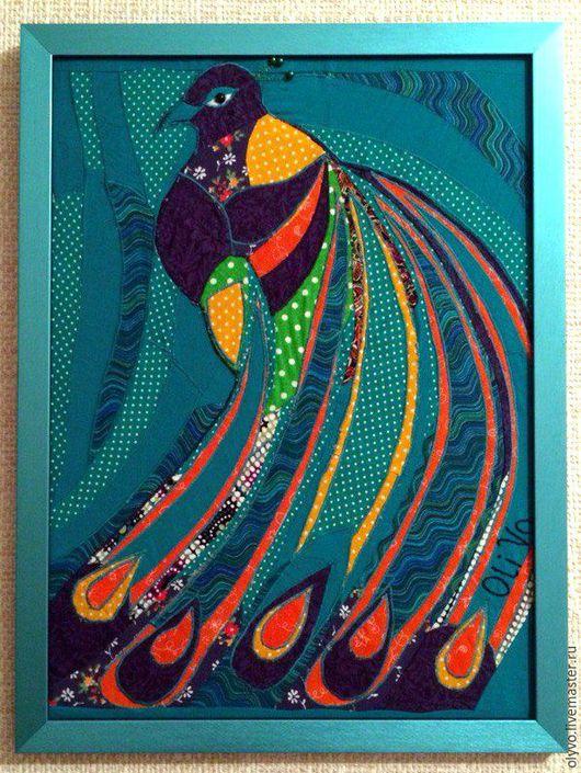 Фантазийные сюжеты ручной работы. Ярмарка Мастеров - ручная работа. Купить картина Павлиний хвост. Handmade. Комбинированный, павлинье перо