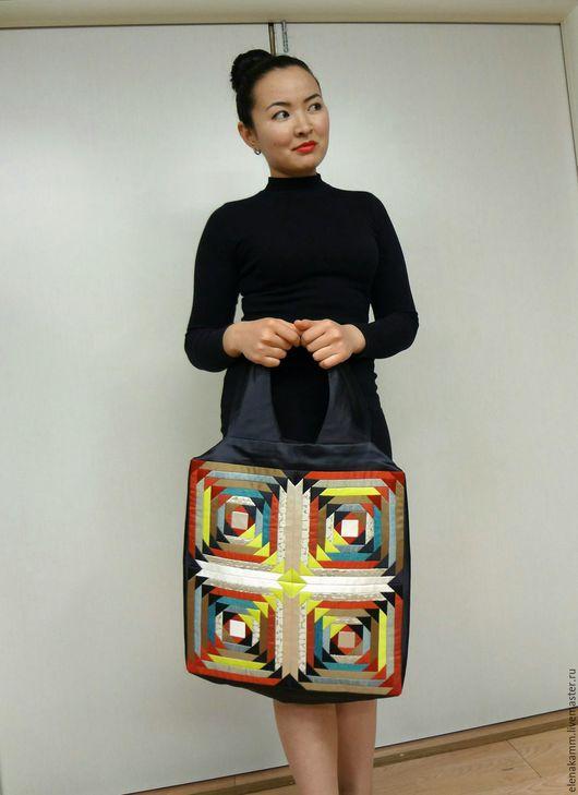 Женские сумки ручной работы. Ярмарка Мастеров - ручная работа. Купить Модная сумка с печворком. Handmade. Сумка, стильная сумка