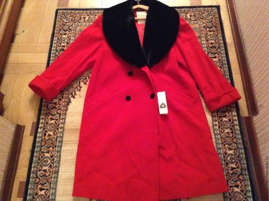 Одежда. Ярмарка Мастеров - ручная работа. Купить Baruch демисезонное пальто, алое, НОВОЕ. Handmade. Ярко-красный, женское пальто