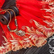 Материалы для творчества ручной работы. Ярмарка Мастеров - ручная работа Кружево 442 вышивка на сетке, кружево с вышивкой. Handmade.