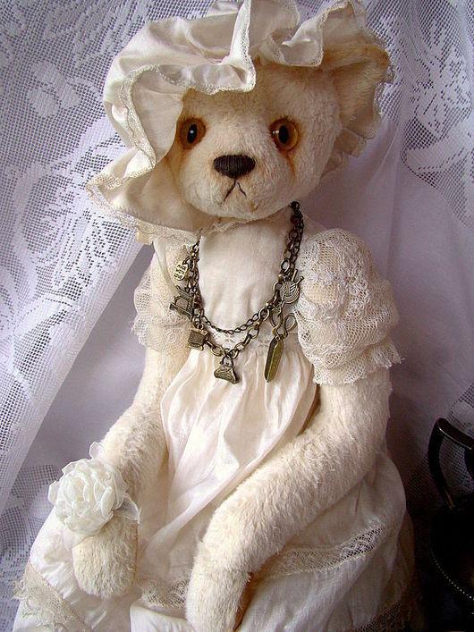 """Мишки Тедди ручной работы. Ярмарка Мастеров - ручная работа. Купить Кошка""""Сливочная помадка"""". Handmade. Белый, кот, крем-брюле"""