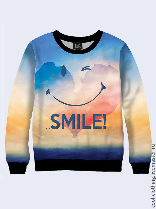 """Кофты и свитера ручной работы. Ярмарка Мастеров - ручная работа. Купить Свитшот """"Smile"""". Handmade. Разноцветный, яркий свитшот"""