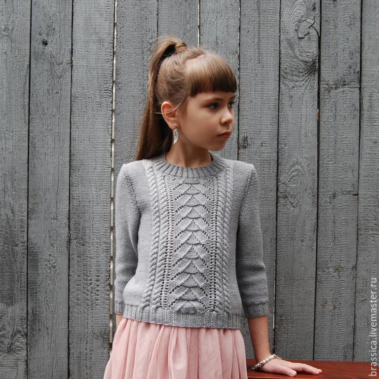 bfbbbc1d254 Пуловер вязаный для девочки Русалочка – купить в интернет-магазине ...
