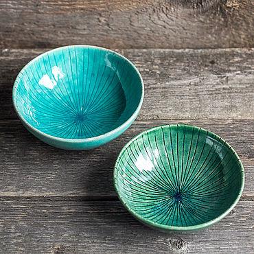 Посуда ручной работы. Ярмарка Мастеров - ручная работа Пиала керамическая / салатник. Handmade.