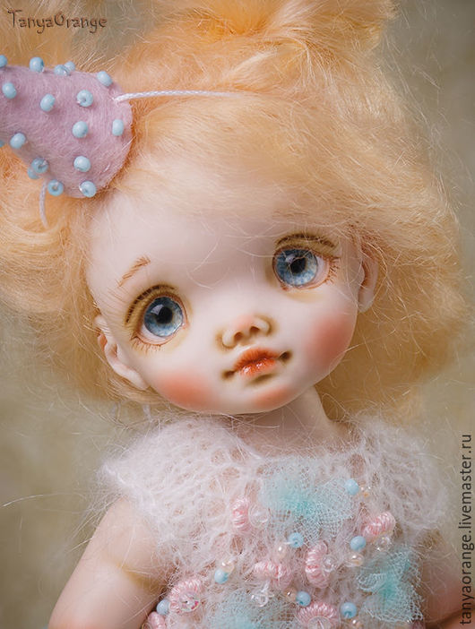 Коллекционные куклы ручной работы. Ярмарка Мастеров - ручная работа. Купить Авторская кукла Nikki 18см. Handmade. Мятный, ребенок