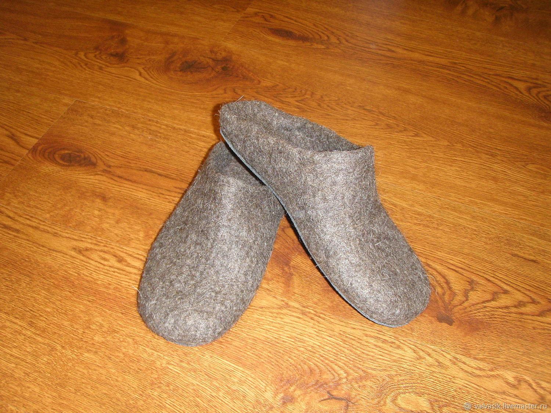 f602ec20bc2f Обувь ручной работы. Ярмарка Мастеров - ручная работа. Купить Валяные  мужские тапочки, ...