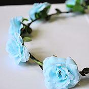 """Украшения ручной работы. Ярмарка Мастеров - ручная работа Венок на голову """"Роза голубая"""". Handmade."""