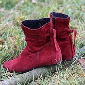 Обувь ручной работы. Ярмарка Мастеров - ручная работа Полусапожки Аленький цветочек. Handmade.
