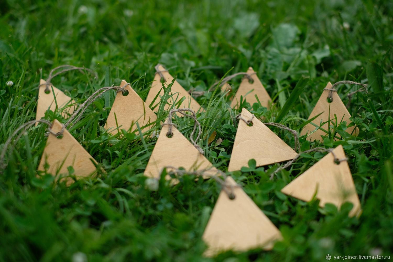 Бирки деревянные ручной работы, Этикетки, Москва,  Фото №1