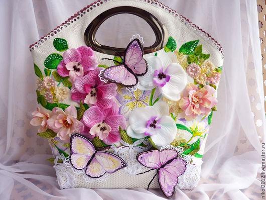 """Женские сумки ручной работы. Ярмарка Мастеров - ручная работа. Купить Сумка """"Нежные орхидеи"""". Handmade. Цветочный, сумка с орхидеями"""