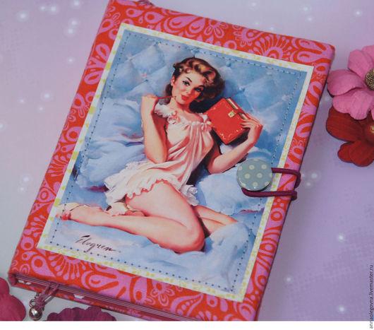 """Блокноты ручной работы. Ярмарка Мастеров - ручная работа. Купить Блокнот """"Очаровашка"""". Handmade. Розовый, фуксия, блокнот для девушки, секрет"""