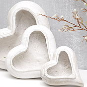 Цветы и флористика handmade. Livemaster - original item Concrete pots the Heart of Provence gift your loved one on Valentine`s day. Handmade.