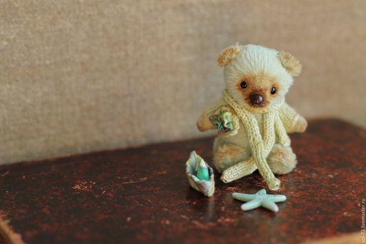 Мишки Тедди ручной работы. Ярмарка Мастеров - ручная работа. Купить Салатовый! Мишка 6,5 см!. Handmade. мулине