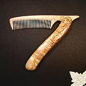 Сувениры и подарки handmade. Livemaster - original item Hairbrush foldable Karelka. Handmade.