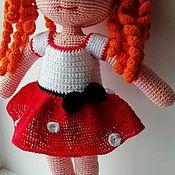 Мягкие игрушки ручной работы. Ярмарка Мастеров - ручная работа Вязаная девочка. Handmade.