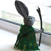 Куклы и игрушки ручной работы. Ярмарка Мастеров - ручная работа Заяц-друид. Скульптура из шерсти. Handmade.