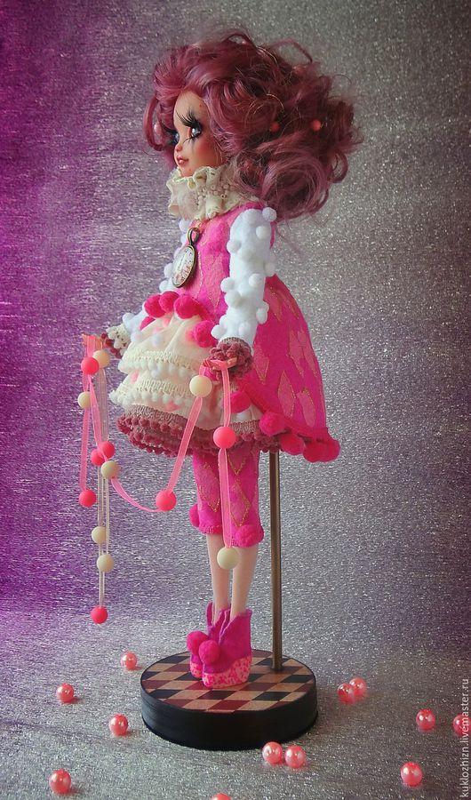 Коллекционные куклы ручной работы. Ярмарка Мастеров - ручная работа. Купить Мия. Розовое настроение. ООАК.. Handmade. Розовый, фатин