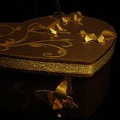 Подарки к праздникам ручной работы. Ярмарка Мастеров - ручная работа Коробка-сердце. Handmade.