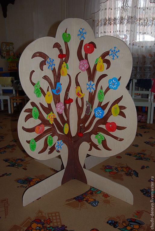 Развивающие игрушки ручной работы. Ярмарка Мастеров - ручная работа. Купить Чудо-дерево, развивающая игрушка. Handmade. Бежевый, дерево