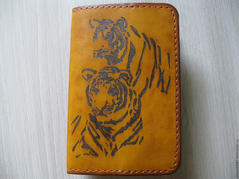 Обложка кожаная для паспорта. Пирография, Обложки, Смоленск, Фото №1