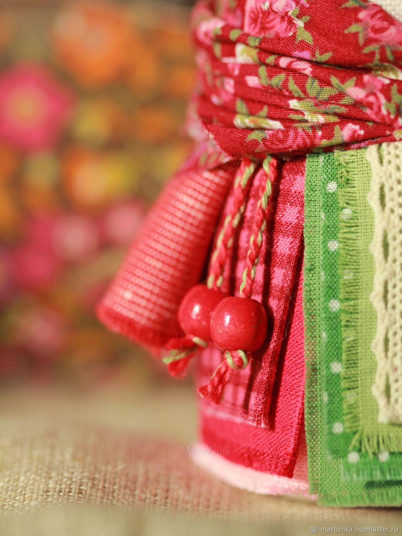 Крупеничка Розовый сад красный зелёный народная кукла, Народная кукла, Коломна,  Фото №1