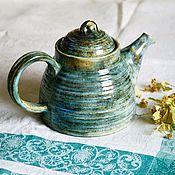 """Чайники ручной работы. Ярмарка Мастеров - ручная работа Чайник """"мятный чай"""". Handmade."""
