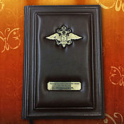 Канцелярские товары handmade. Livemaster - original item Diary of genuine leather