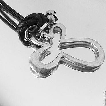 """Украшения ручной работы. Ярмарка Мастеров - ручная работа Колье """"Цветок"""" на кожаном шнуре. Handmade."""